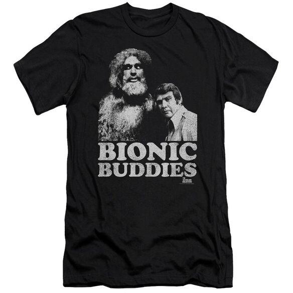 Six Million Dollar Man Bionic Buddies Short Sleeve Adult T-Shirt