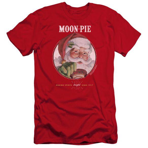 Moon Pie Snacks For Santa Premuim Canvas Adult Slim Fit