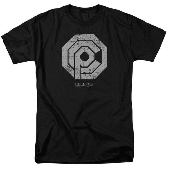 Robocop Distressed Ocp Logo Short Sleeve Adult T-Shirt