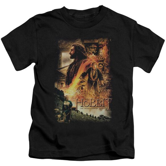 Hobbit Golden Chamber Short Sleeve Juvenile Black T-Shirt