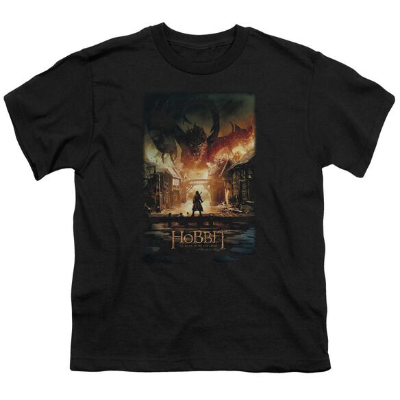 Hobbit Smaug Poster Short Sleeve Youth T-Shirt