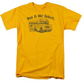 Bus It Old School Short Sleeve Adult Gold T-Shirt