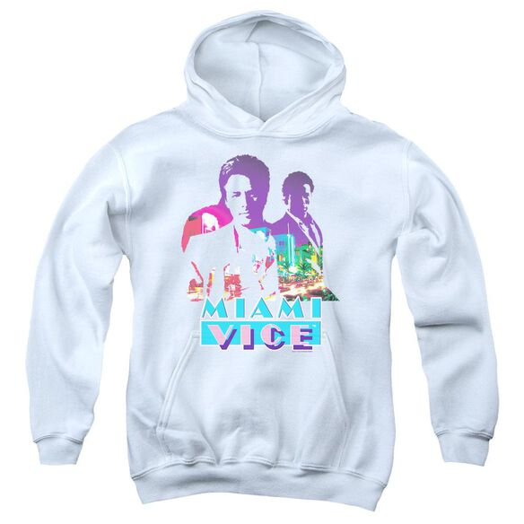 Miami Vice Crockett And Tubbs Youth Pull Over Hoodie