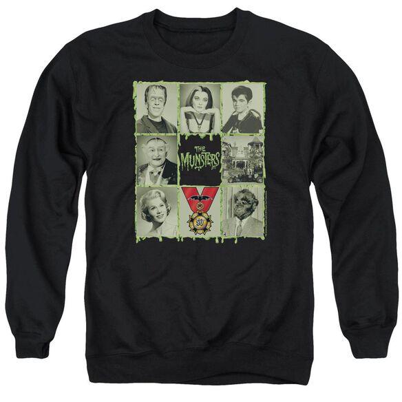 The Munsters Blocks Adult Crewneck Sweatshirt