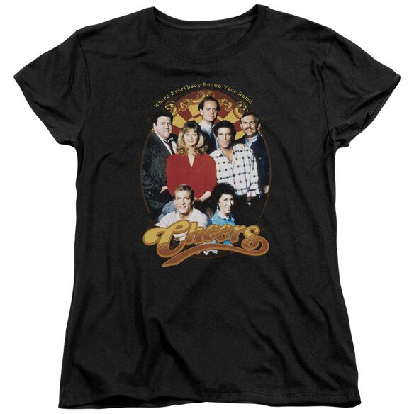 Cheers Group Shot Short Sleeve Womens Tee T-Shirt