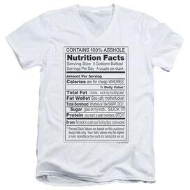 100% ASSHOLE - ADULT V-NECK - WHITE T-Shirt