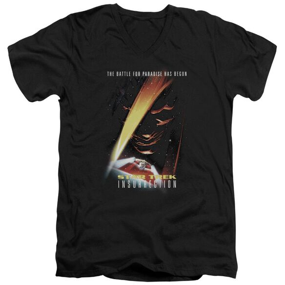 Star Trek Insurrection(Movie) Short Sleeve Adult V Neck T-Shirt