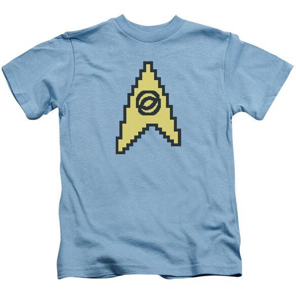 Star Trek 8 Bit Science Short Sleeve Juvenile Carolina T-Shirt