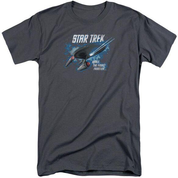 Star Trek The Final Frontier Short Sleeve Adult Tall T-Shirt