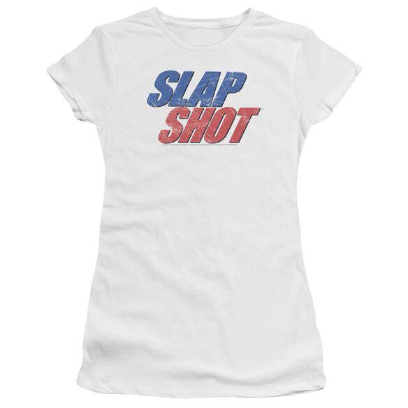 Slap Shot Blue And Red Logo Premium Bella Junior Sheer Jersey