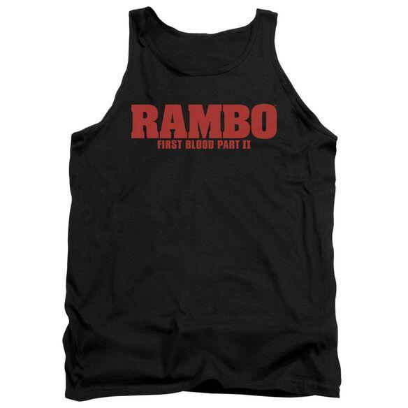 Rambo:First Blood Ii Logo Adult Tank