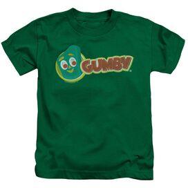 Gumby Logo Short Sleeve Juvenile Kelly Green Md T-Shirt