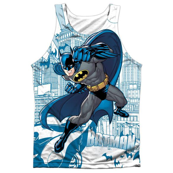 Batman Skyline All Over Adult 100% Poly Tank Top