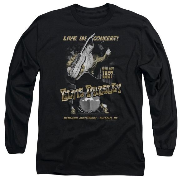 Elvis Presley Live In Buffalo Long Sleeve Adult T-Shirt