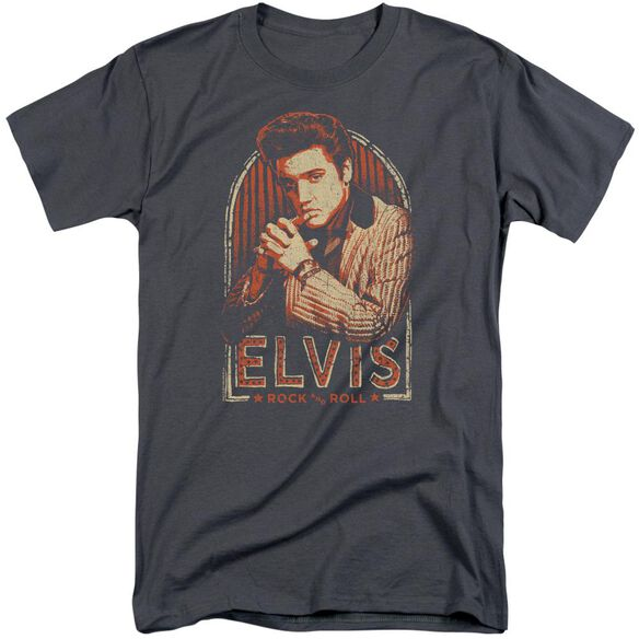 Elvis Stripes Short Sleeve Adult Tall T-Shirt