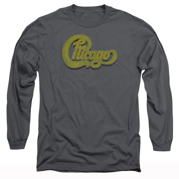 Chicago Distressed Long Sleeve Adult T-Shirt