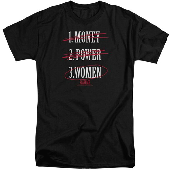 Scarface Money Power Women Short Sleeve Adult Tall T-Shirt