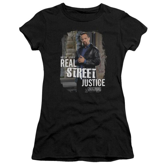 Law And Order Svu Street Justice Short Sleeve Junior Sheer T-Shirt