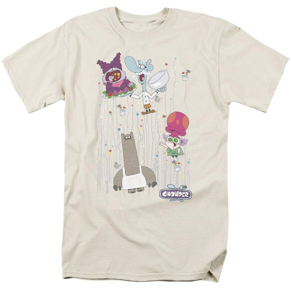 Chowder Dots Collage Short Sleeve Adult Cream T-Shirt