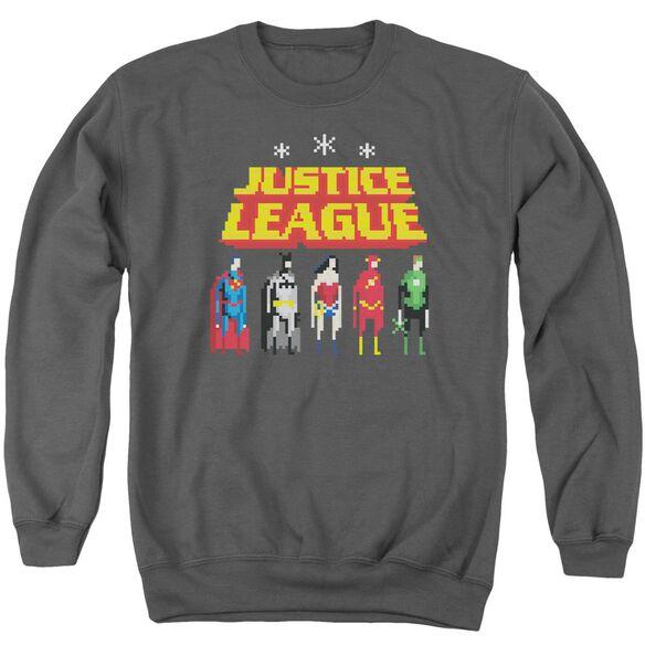 Jla Standing Below Adult Crewneck Sweatshirt