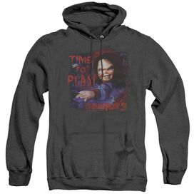 Childs Play 3 Time To Play - Adult Heather Hoodie - Black