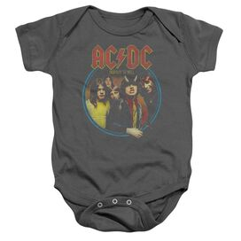 Acdc Highway To Hell Infant Snapsuit Charcoal