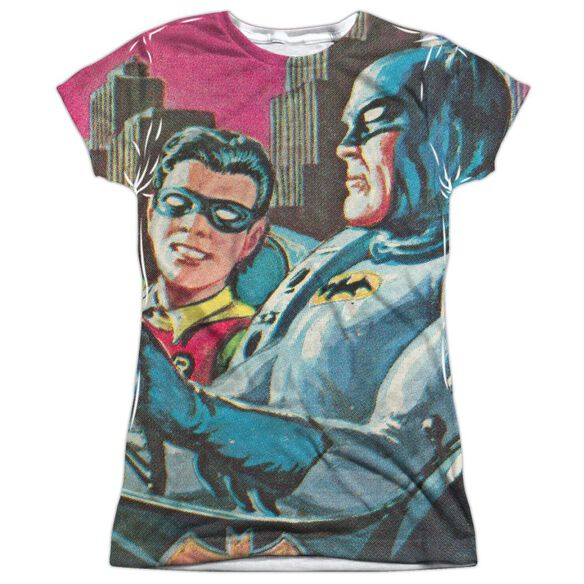 Batman Classic Tv Bat Signal Short Sleeve Junior Poly Crew T-Shirt