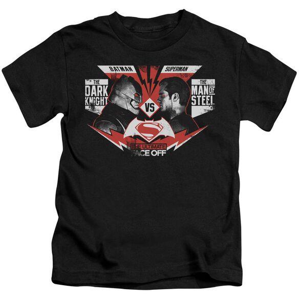 Batman V Superman Ultimate Face Off Short Sleeve Juvenile Black T-Shirt
