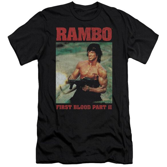Rambo:First Blood Ii Dropping Shells Short Sleeve Adult T-Shirt