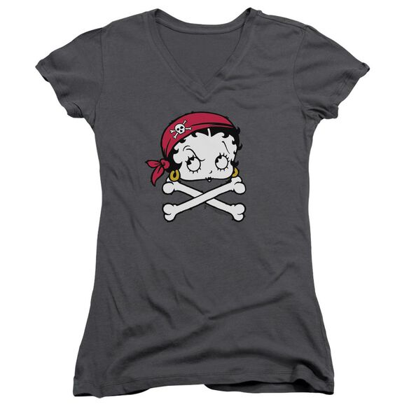Betty Boop Pirate Junior V Neck T-Shirt