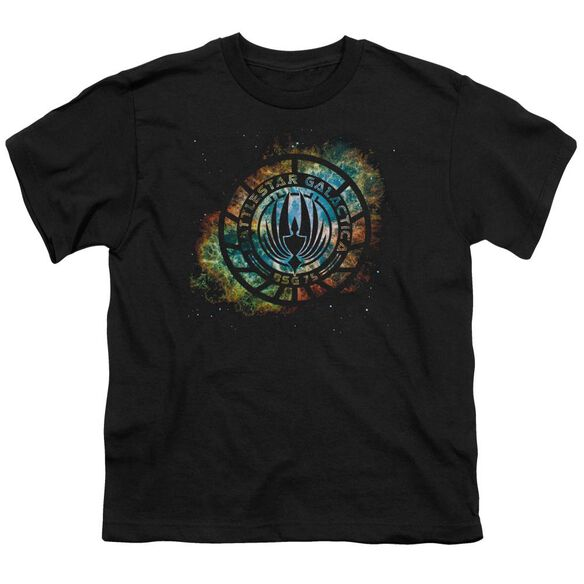 Battlestar Galactica (New) Emblem Knock Out Short Sleeve Youth T-Shirt
