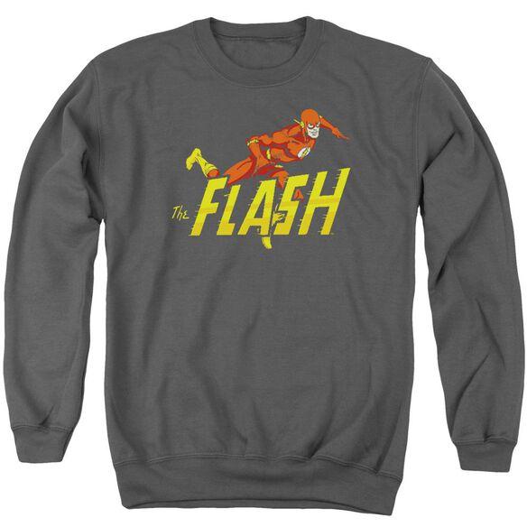 Dc 8 Bit Flash Adult Crewneck Sweatshirt