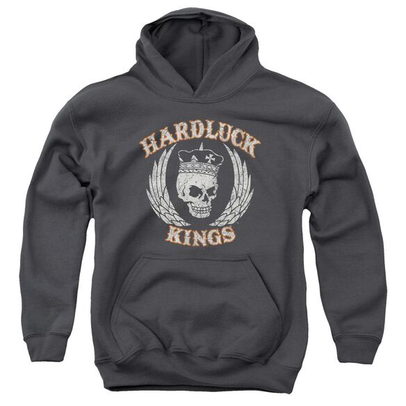 Hardluck Kings Red Cream Distressed Youth Pull Over Hoodie