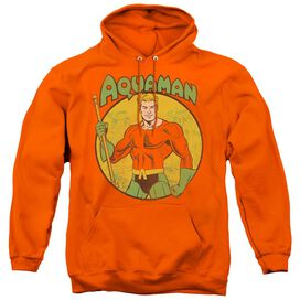 DC AQUAMAN - ADULT PULL-OVER HOODIE - ORANGE