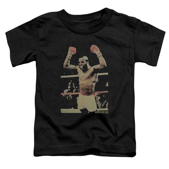 Rocky Iii Clubber Short Sleeve Toddler Tee Black T-Shirt