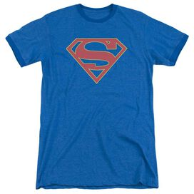Supergirl Logo Adult Heather Ringer Royal Blue