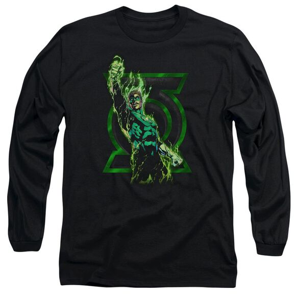 Green Lantern Fully Charged Long Sleeve Adult T-Shirt