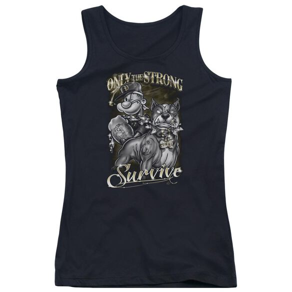 Popeye Only The Strong Juniors Tank Top