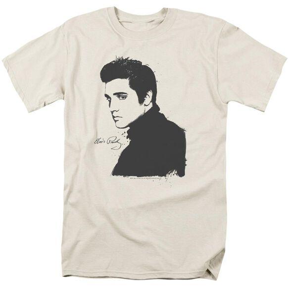 ELVIS PRESLEY BLACK PAINT - S/S ADULT 18/1 - CREAM T-Shirt