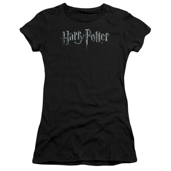 Harry Potter Logo Short Sleeve Junior Sheer T-Shirt