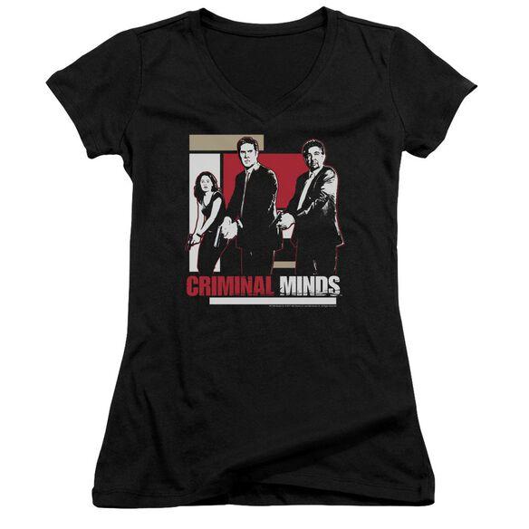 Criminal Minds Guns Drawn Junior V Neck T-Shirt