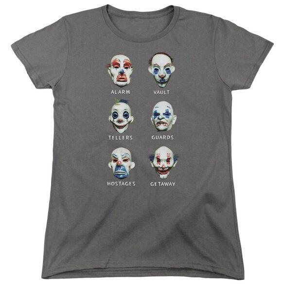 Dark Knight Goon Masks Short Sleeve Womens Tee Charcoal T-Shirt
