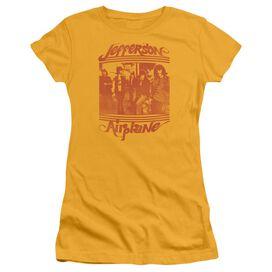 Jefferson Airplane Group Photo Short Sleeve Junior Sheer T-Shirt