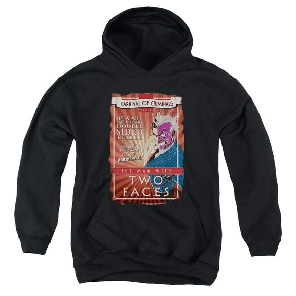 Batman Two Faces Youth Pull Over Hoodie