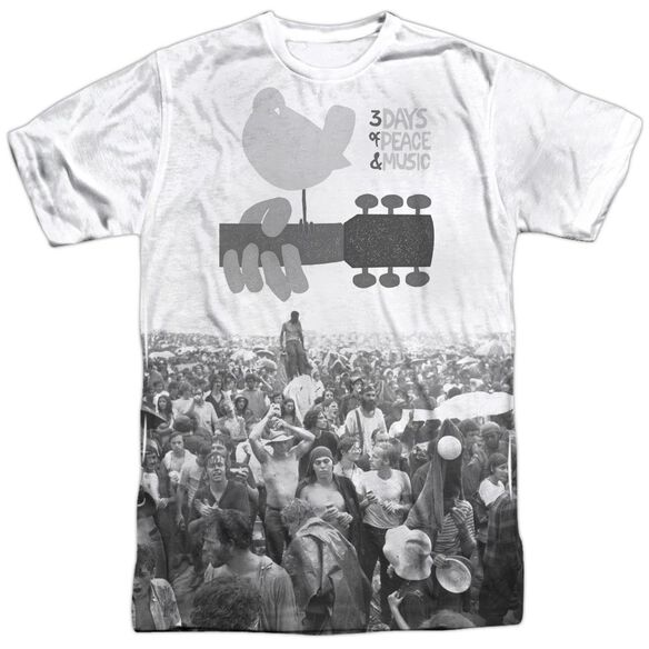 Woodstock Crowd Short Sleeve Adult Poly Crew T-Shirt