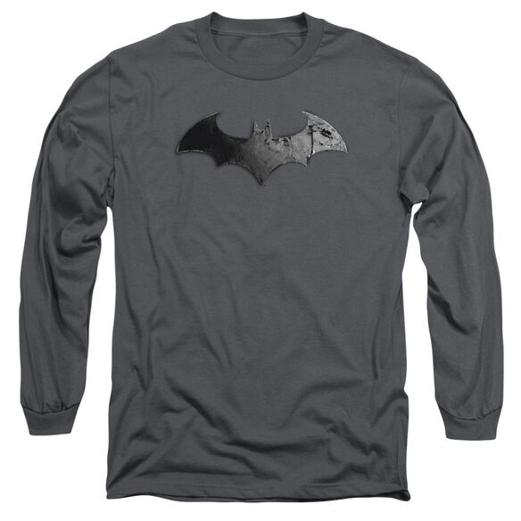 Arkham City Bat Logo Long Sleeve Adult T-Shirt