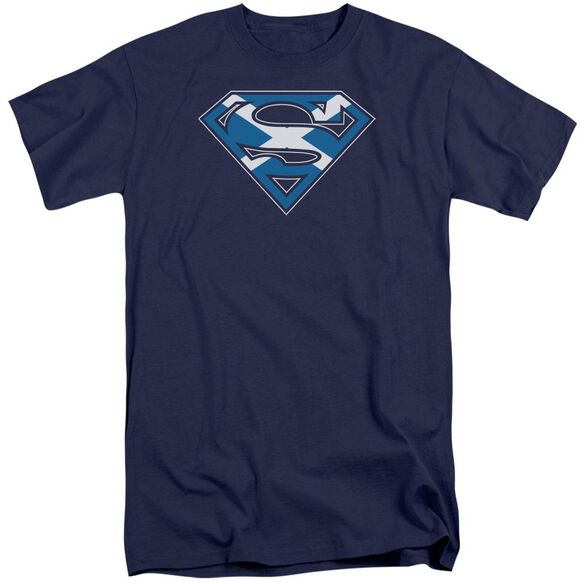 Superman Scottish Shield Short Sleeve Adult Tall T-Shirt