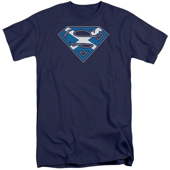 Superman Scottish Shield Short Sleeve Adult Tall T-Shirt