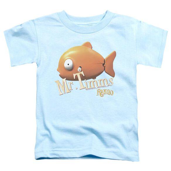 Rango Mr Timms Short Sleeve Toddler Tee Light Blue Lg T-Shirt