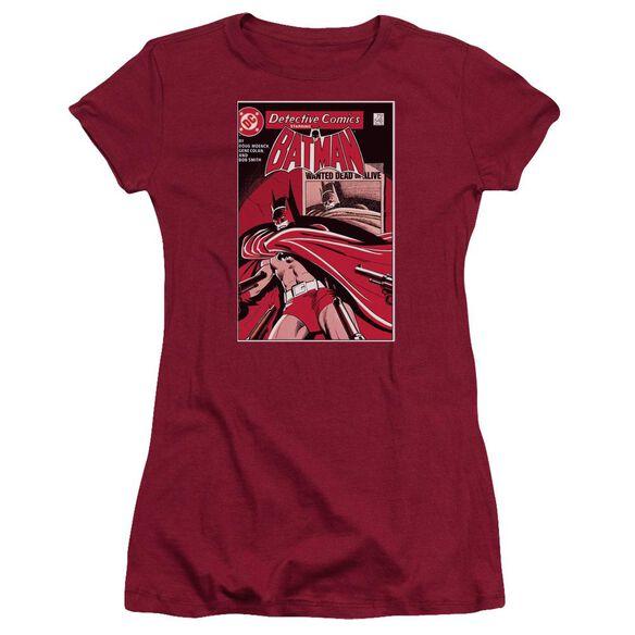 Dc Wanted Bat Short Sleeve Junior Sheer T-Shirt